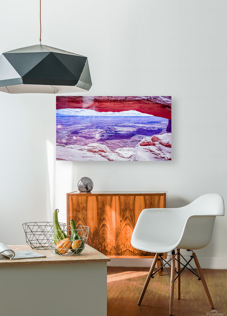 Mesa Arch Canyonlands  HD Metal print with Floating Frame on Back