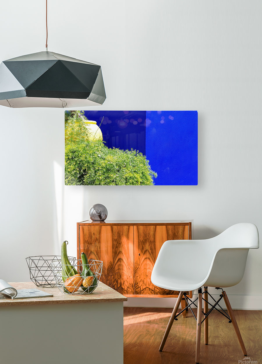 Marrakech on Blue Majorelle  HD Metal print with Floating Frame on Back