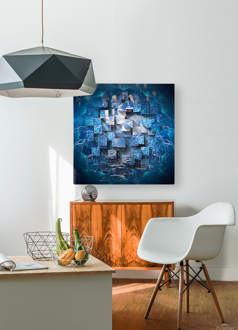 Power Revealed  HD Metal print with Floating Frame on Back