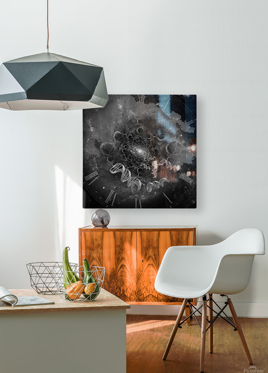 DNA From Space  HD Metal print with Floating Frame on Back