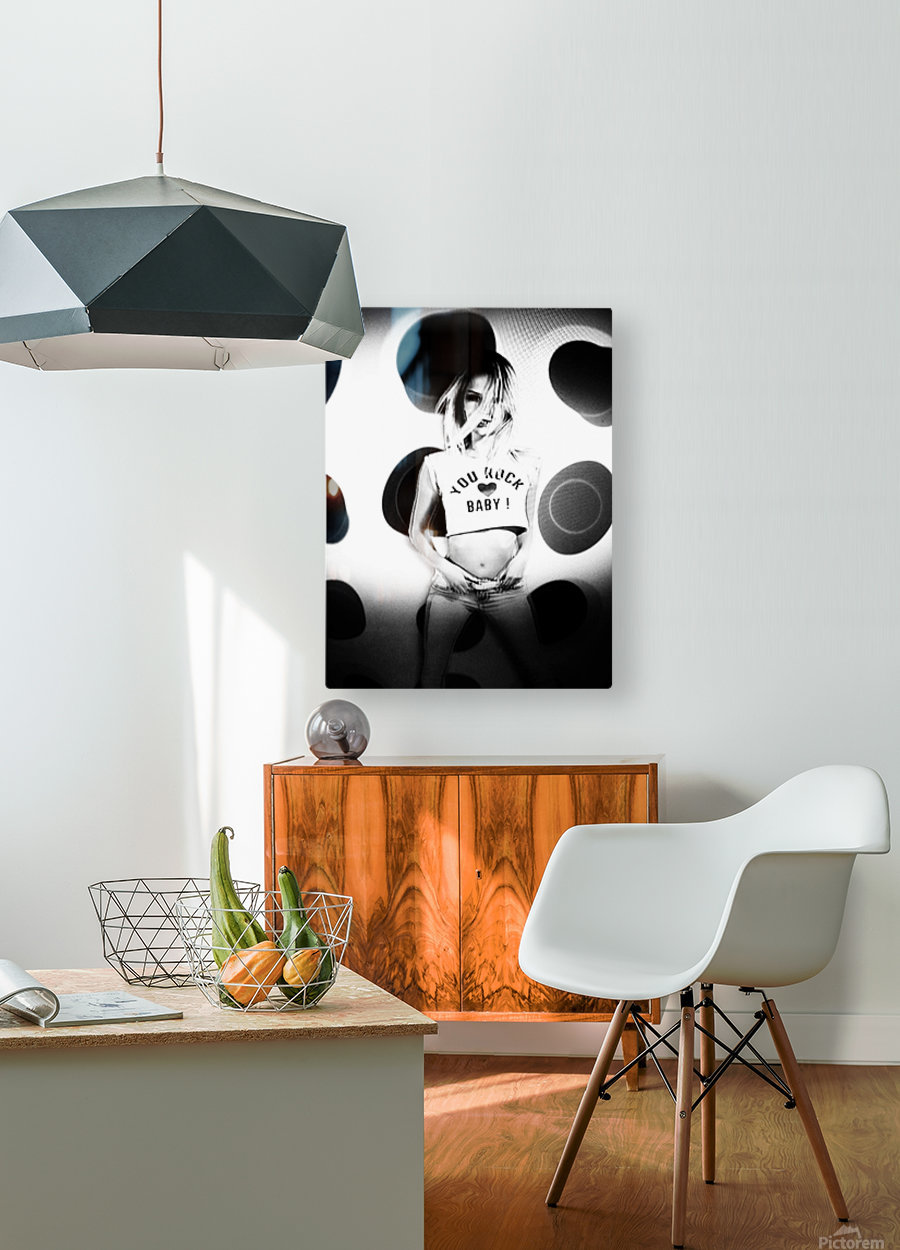 You Rock Baby  HD Metal print with Floating Frame on Back