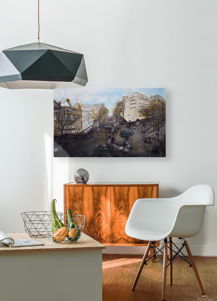 Buildings_High_Res  Impression métal HD avec cadre flottant sur le dos