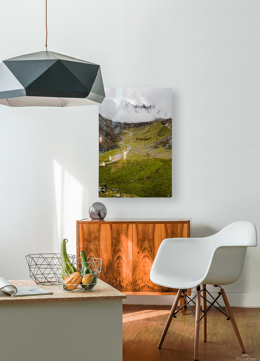 Cusco Valley  HD Metal print with Floating Frame on Back