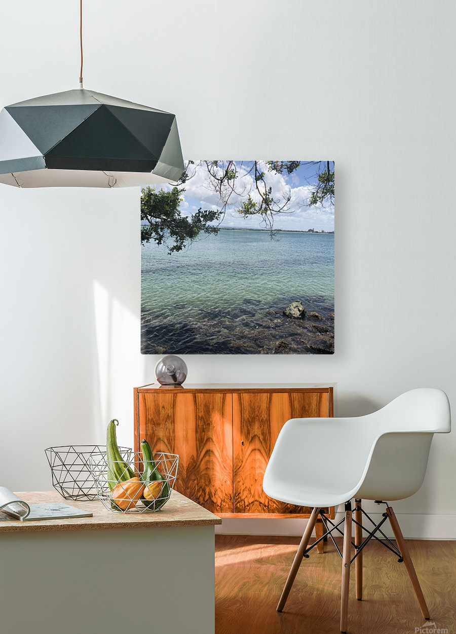 A Street Side in Puerto Rico Series: 3  HD Metal print with Floating Frame on Back