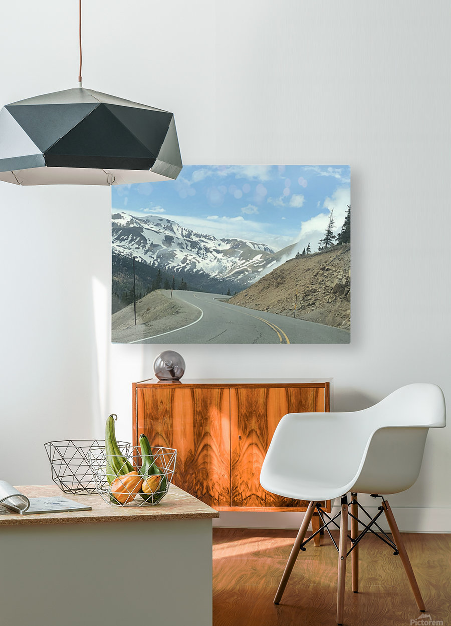 Old Country Road...Up In the Mountains  HD Metal print with Floating Frame on Back