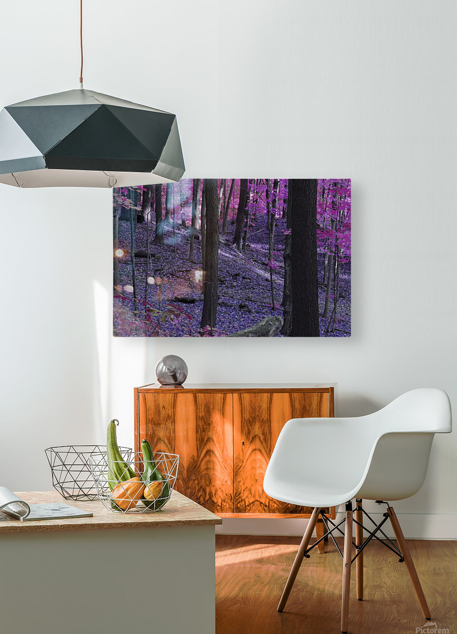 Purple Forest  HD Metal print with Floating Frame on Back