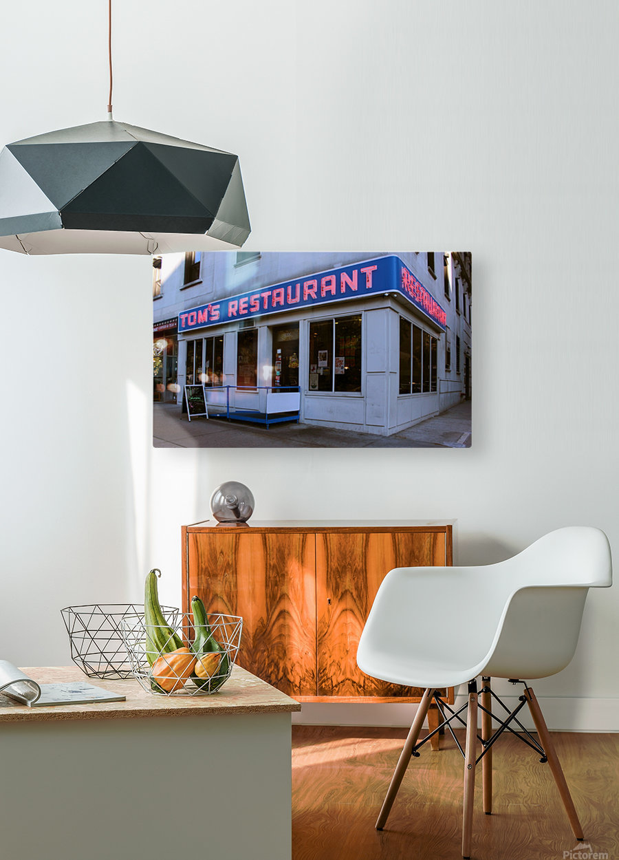 Toms Restaurant  HD Metal print with Floating Frame on Back