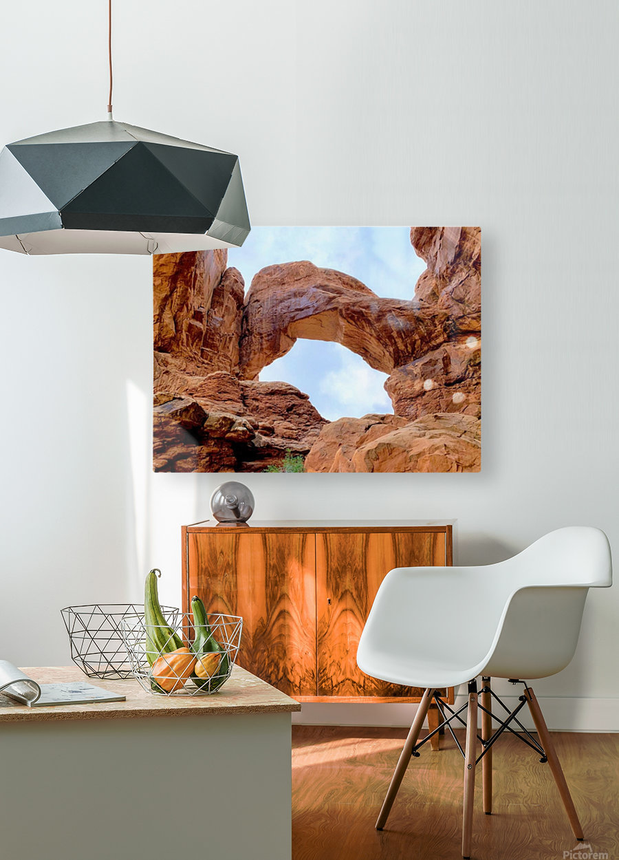 Grand Arch  HD Metal print with Floating Frame on Back