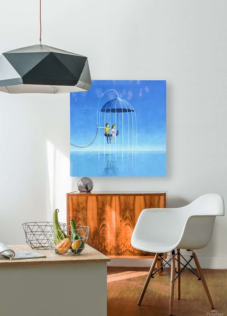 stay with me  HD Metal print with Floating Frame on Back