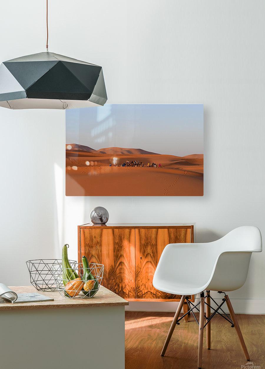 Merzouga sunrise  HD Metal print with Floating Frame on Back