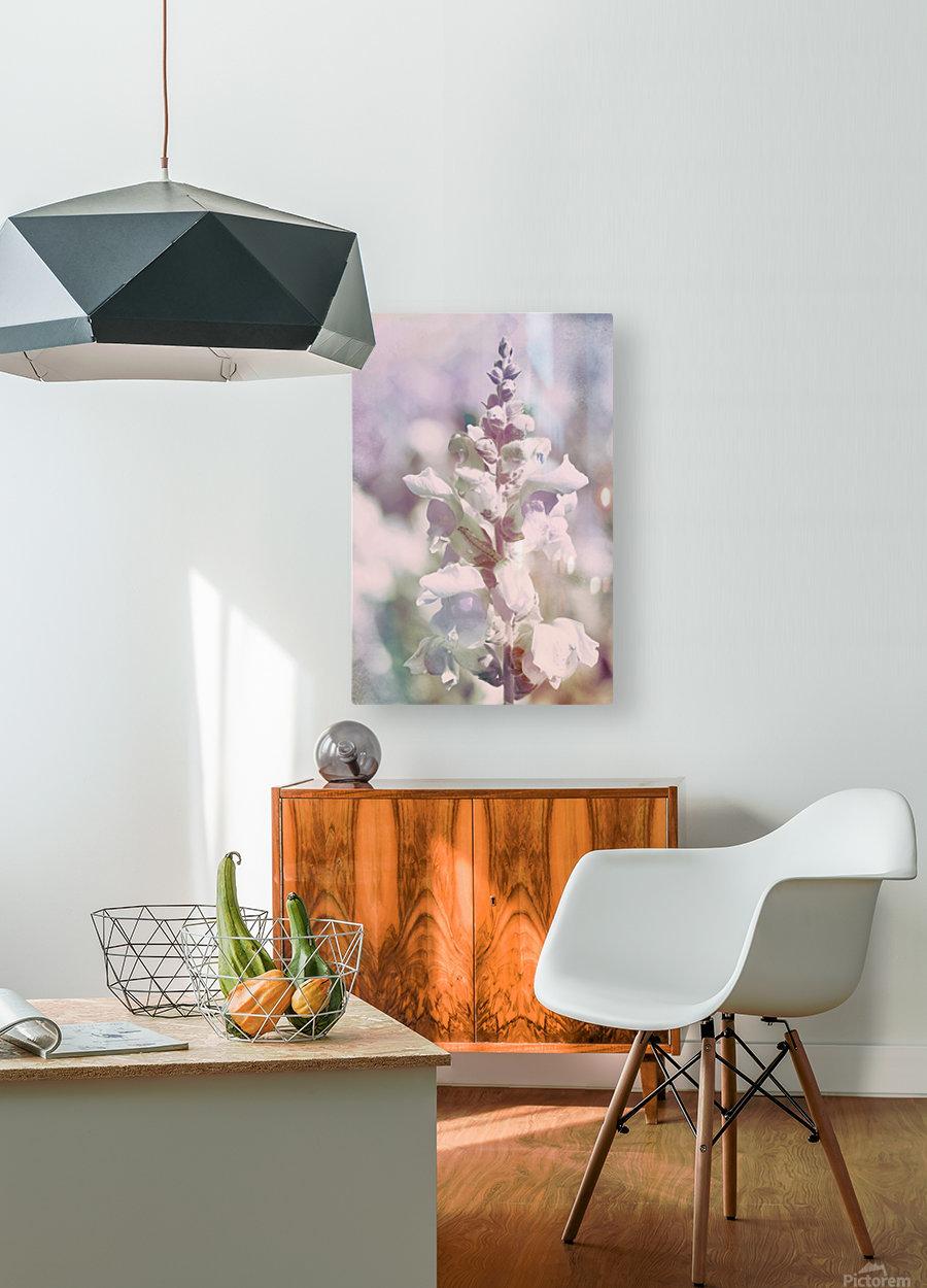 Soft Vintage Lupine  HD Metal print with Floating Frame on Back