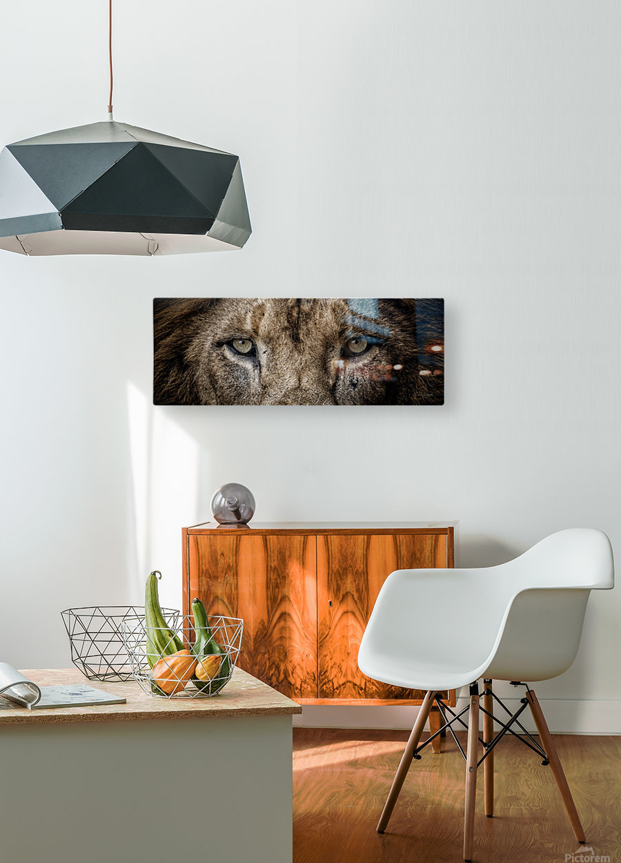 Guess Who  HD Metal print with Floating Frame on Back