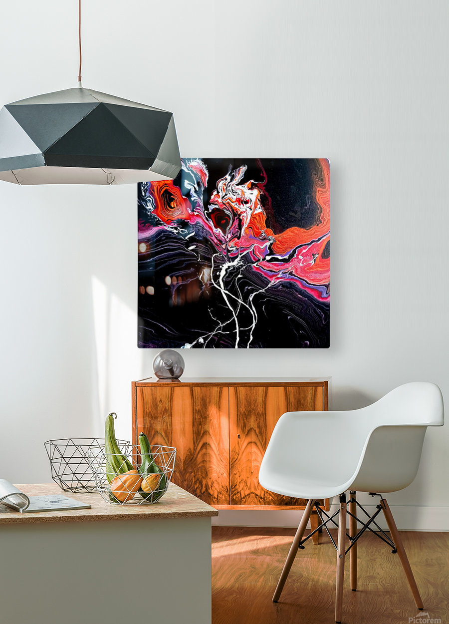 Hell garden  HD Metal print with Floating Frame on Back