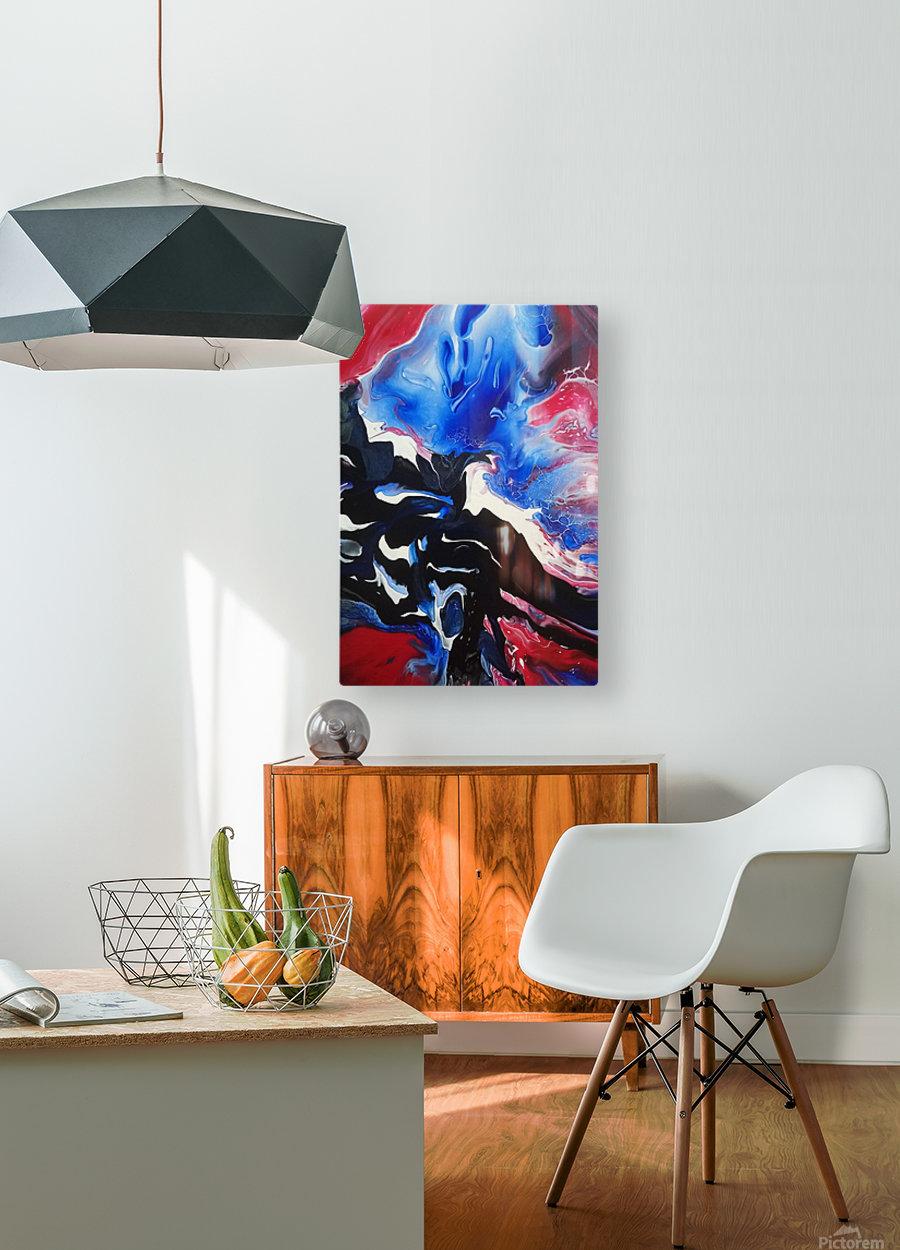 Blue rose  HD Metal print with Floating Frame on Back