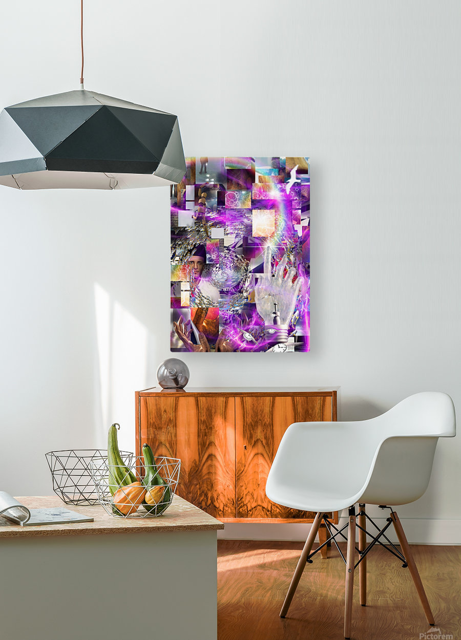 Vortex of Life  HD Metal print with Floating Frame on Back