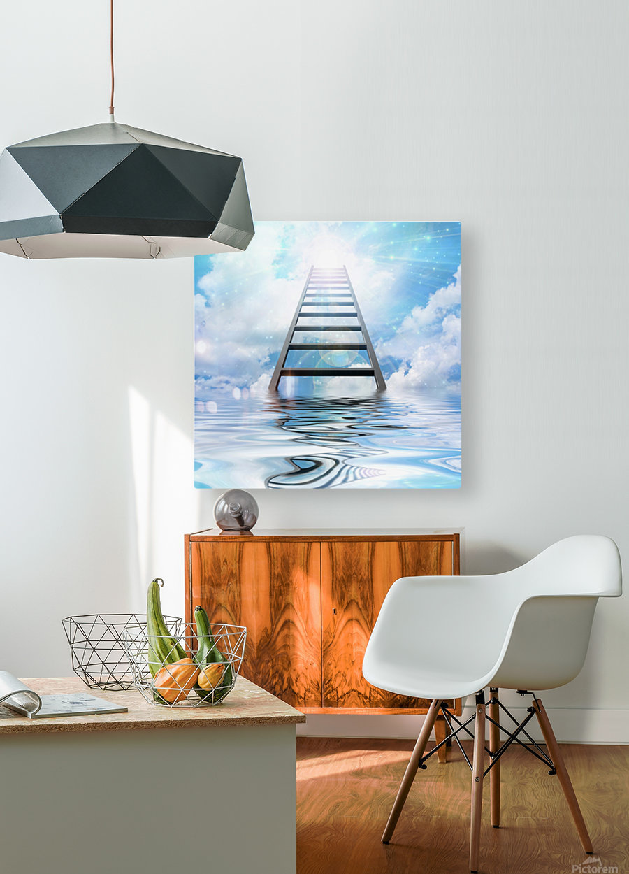 Ladder to the Sky  HD Metal print with Floating Frame on Back