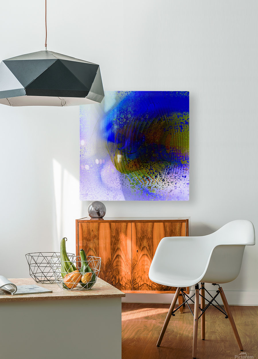Azitum 2  HD Metal print with Floating Frame on Back
