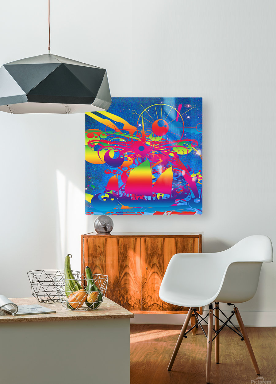 Star Ship  HD Metal print with Floating Frame on Back