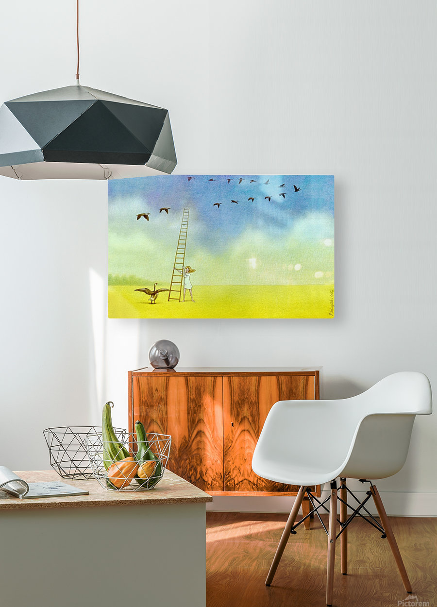 summer s end  HD Metal print with Floating Frame on Back