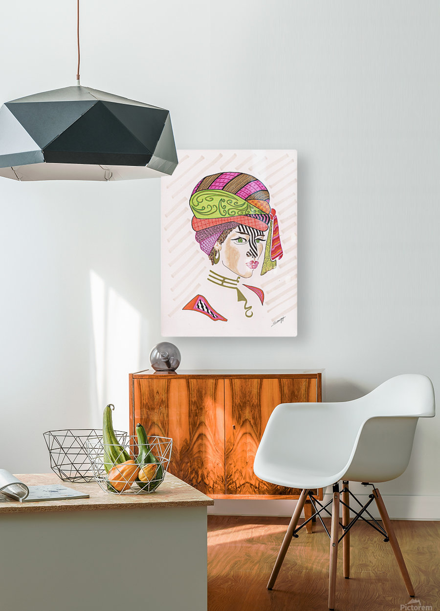 A Woman of a Different Stripe  HD Metal print with Floating Frame on Back