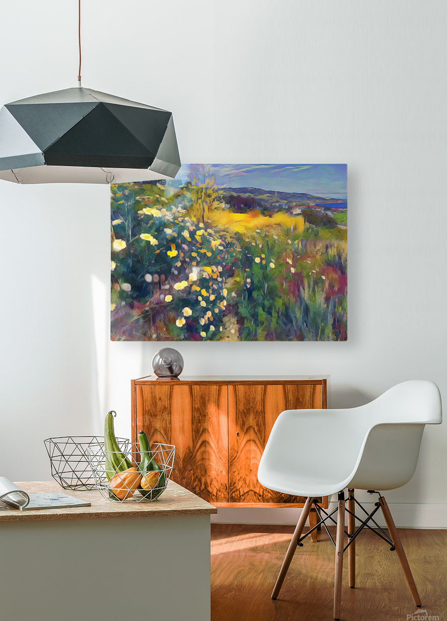 Spring daisies  HD Metal print with Floating Frame on Back