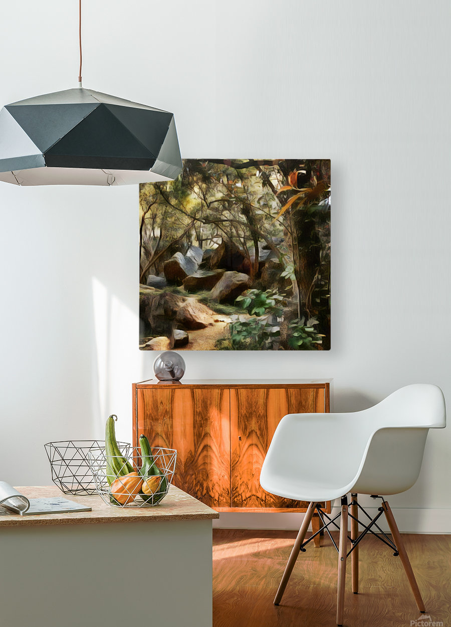 Into the Woods  HD Metal print with Floating Frame on Back