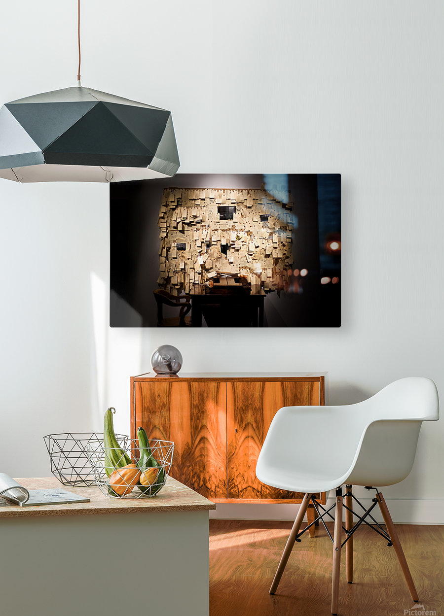 Addled  HD Metal print with Floating Frame on Back