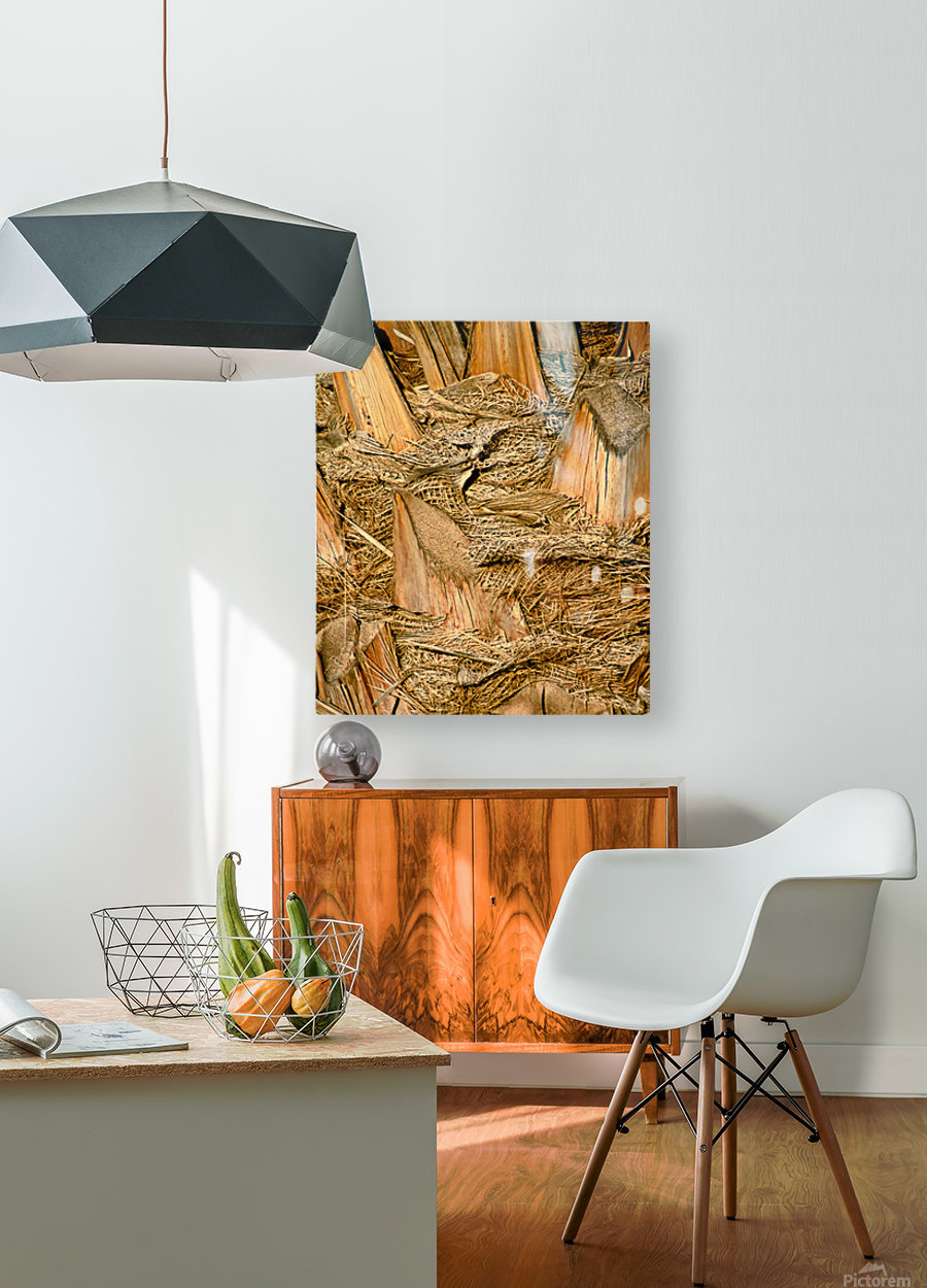 Jagged Gold  HD Metal print with Floating Frame on Back