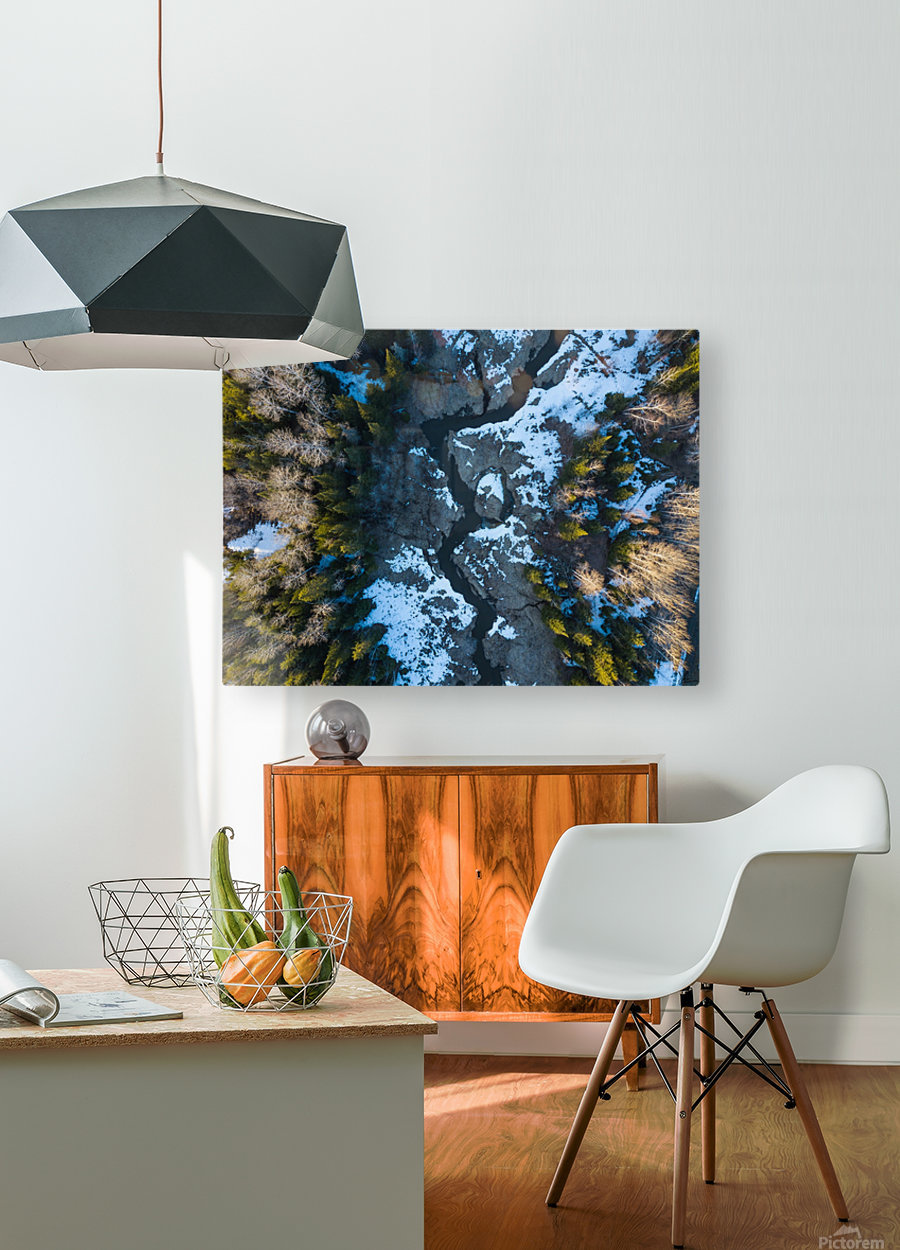 Ontario River  HD Metal print with Floating Frame on Back
