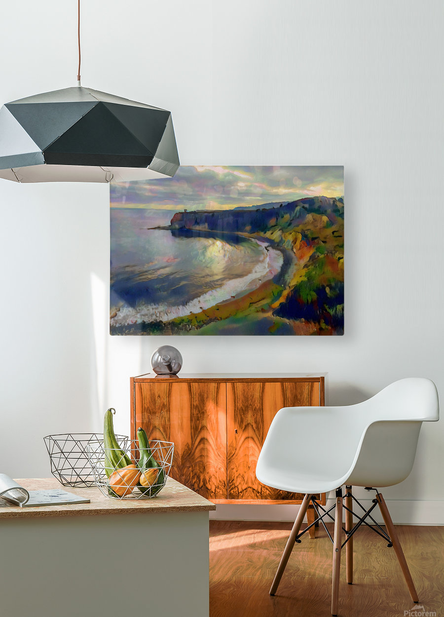 Hidden cove  HD Metal print with Floating Frame on Back