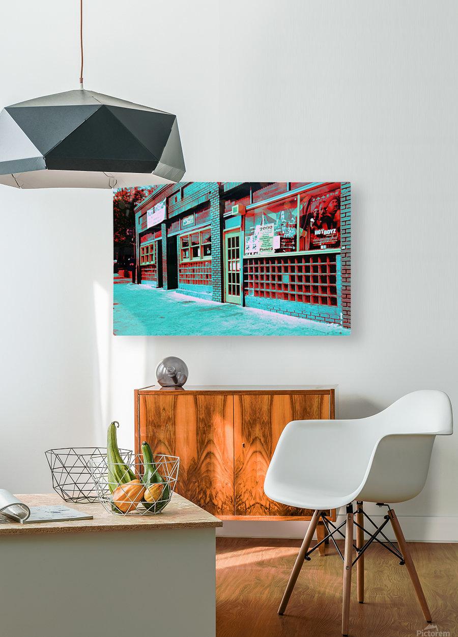 Atlanta Street Scene -- Turquoise  HD Metal print with Floating Frame on Back