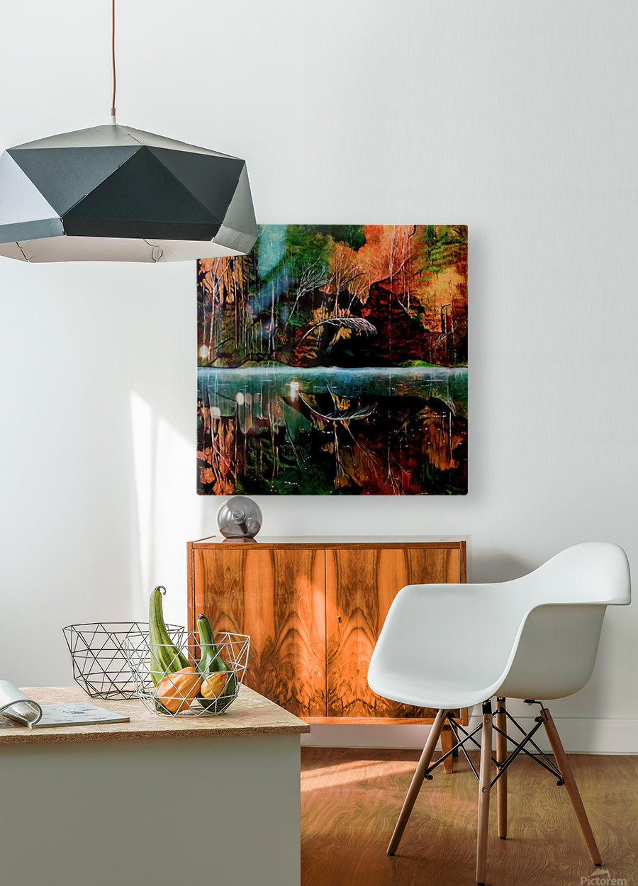 Morning Mist  HD Metal print with Floating Frame on Back