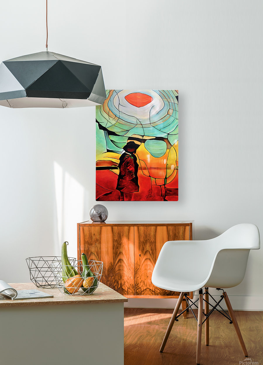 Sun Rings  HD Metal print with Floating Frame on Back
