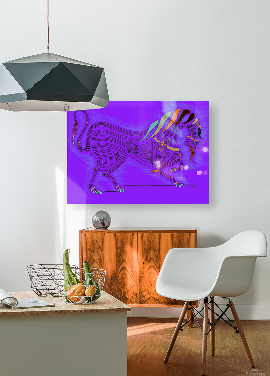 RARIN' TO GO--Bright on Blue  HD Metal print with Floating Frame on Back