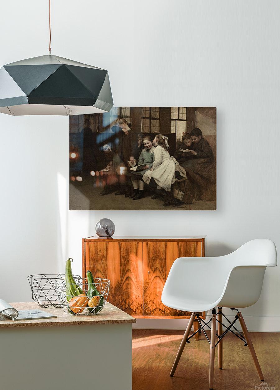 En retenue  HD Metal print with Floating Frame on Back