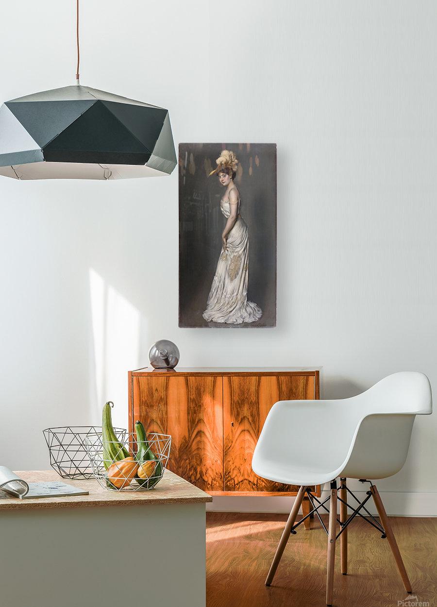 Portrait de madame Rene Prejelan  HD Metal print with Floating Frame on Back