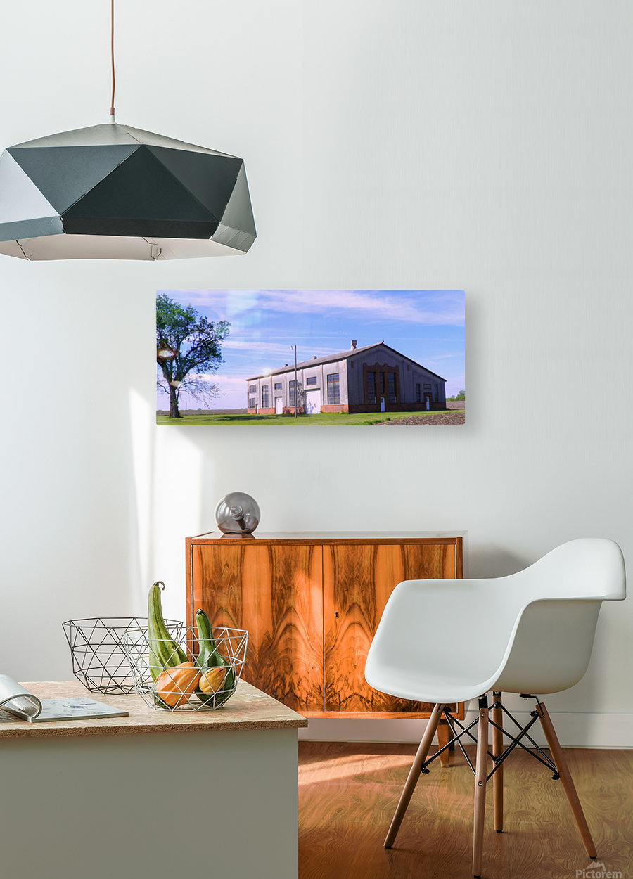 Gas Pipe Building  HD Metal print with Floating Frame on Back