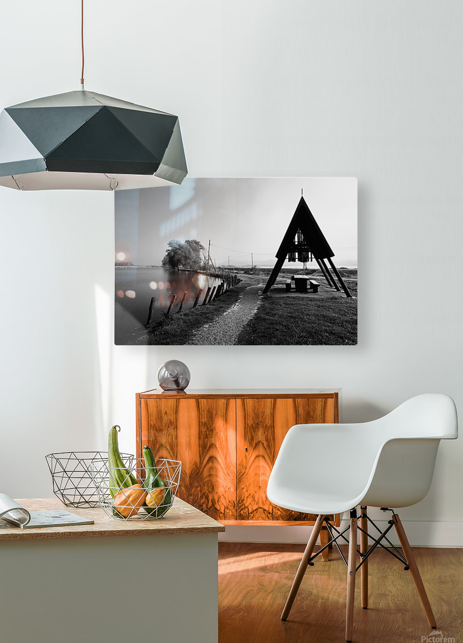 Fishermans Sanctuary  HD Metal print with Floating Frame on Back