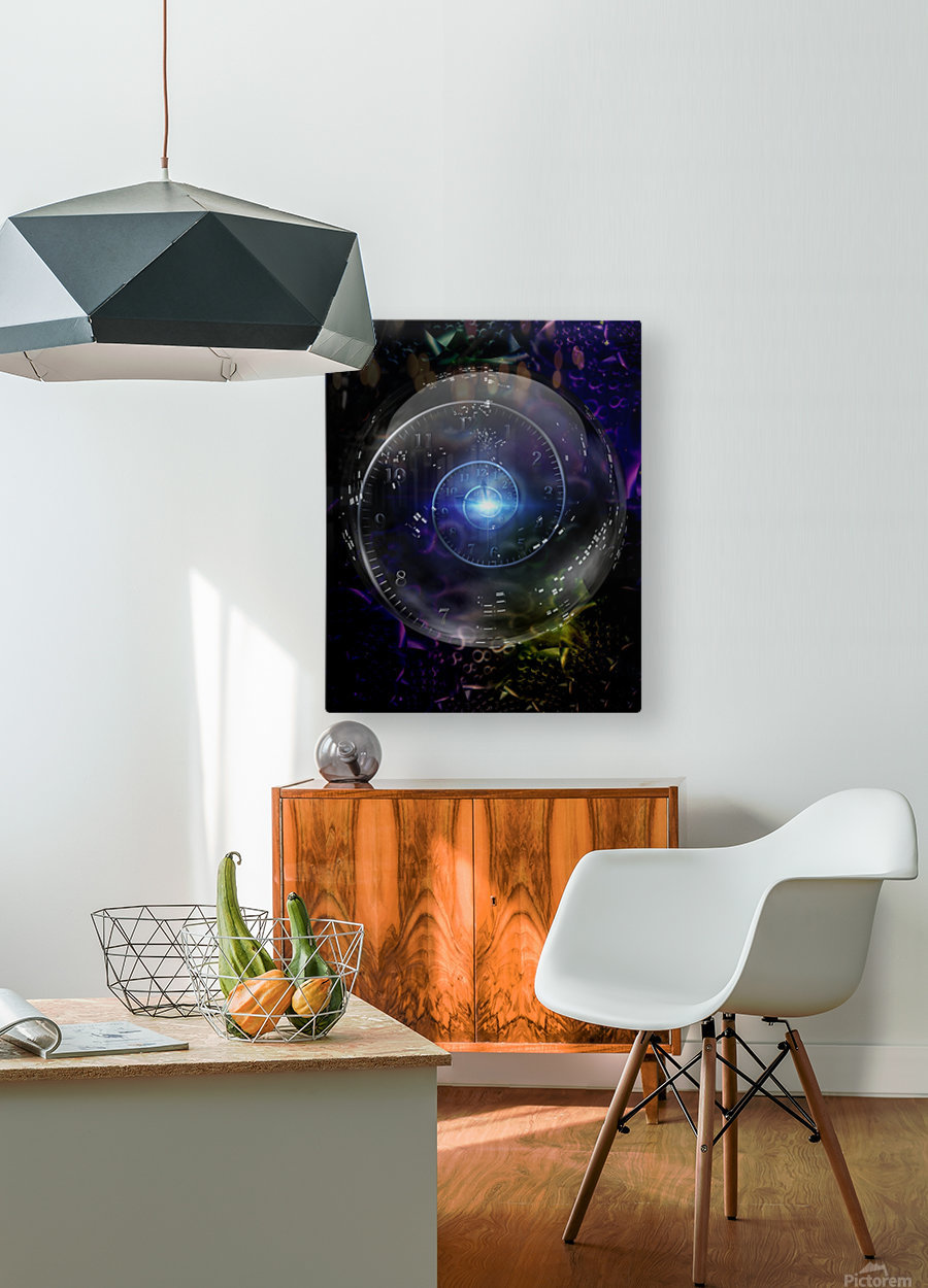 Time Warp  HD Metal print with Floating Frame on Back