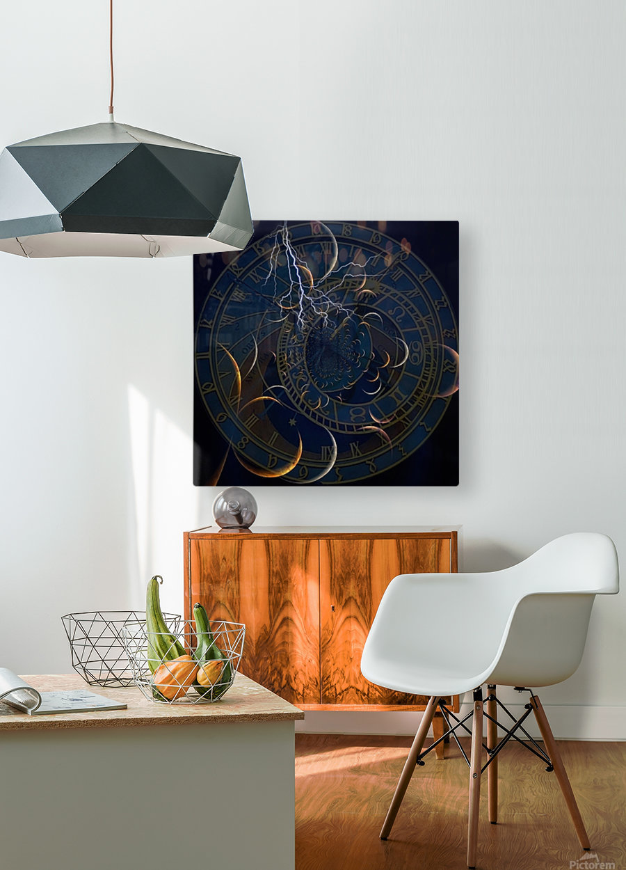Zodiac Time  HD Metal print with Floating Frame on Back