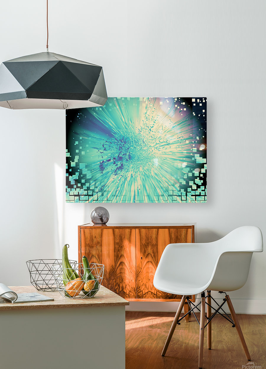 Saturday night fever  HD Metal print with Floating Frame on Back
