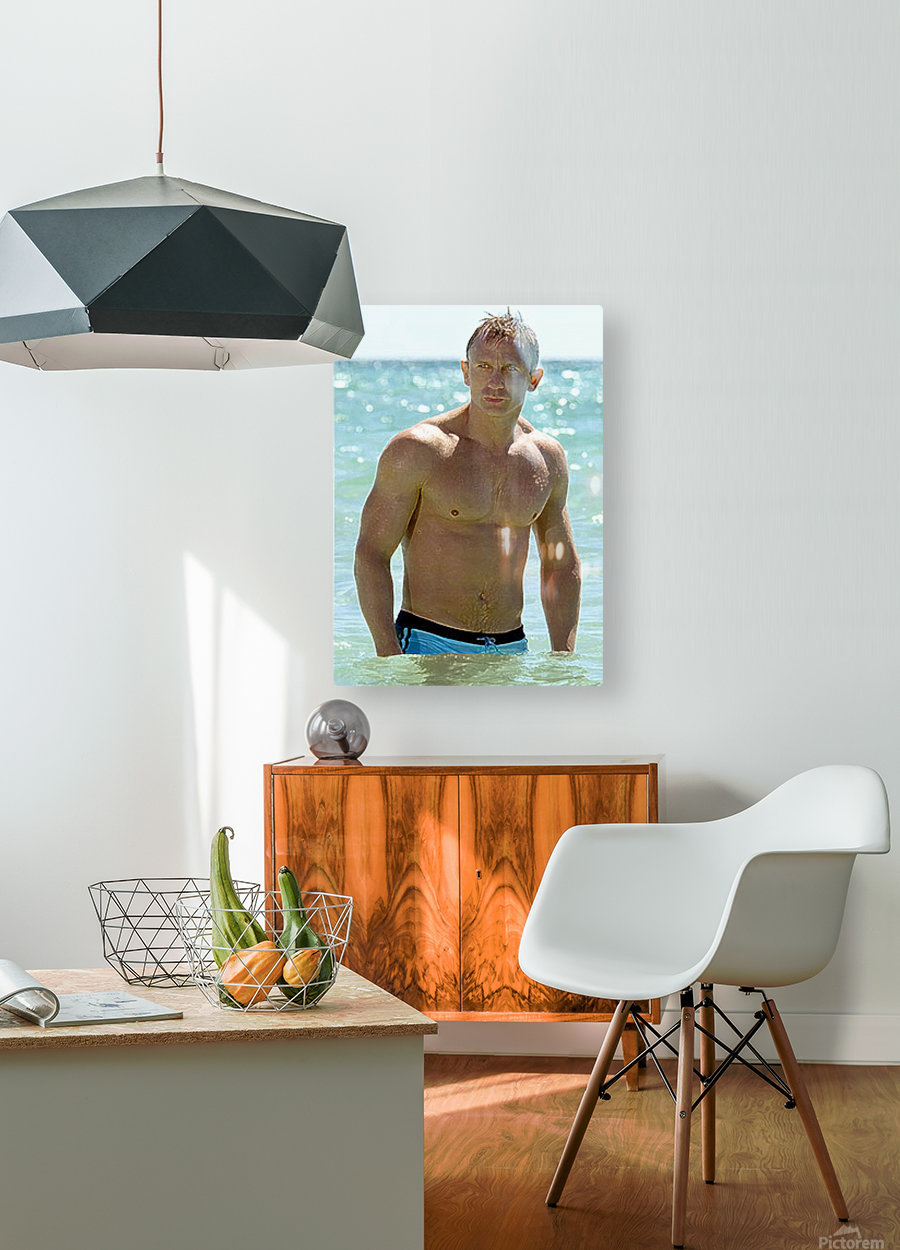 Daniel Craig  HD Metal print with Floating Frame on Back