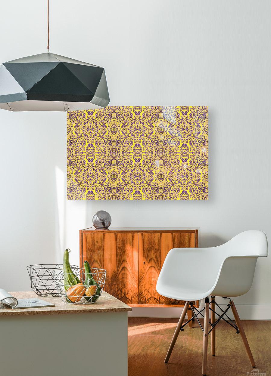 GOLDEN BEAR   HD Metal print with Floating Frame on Back