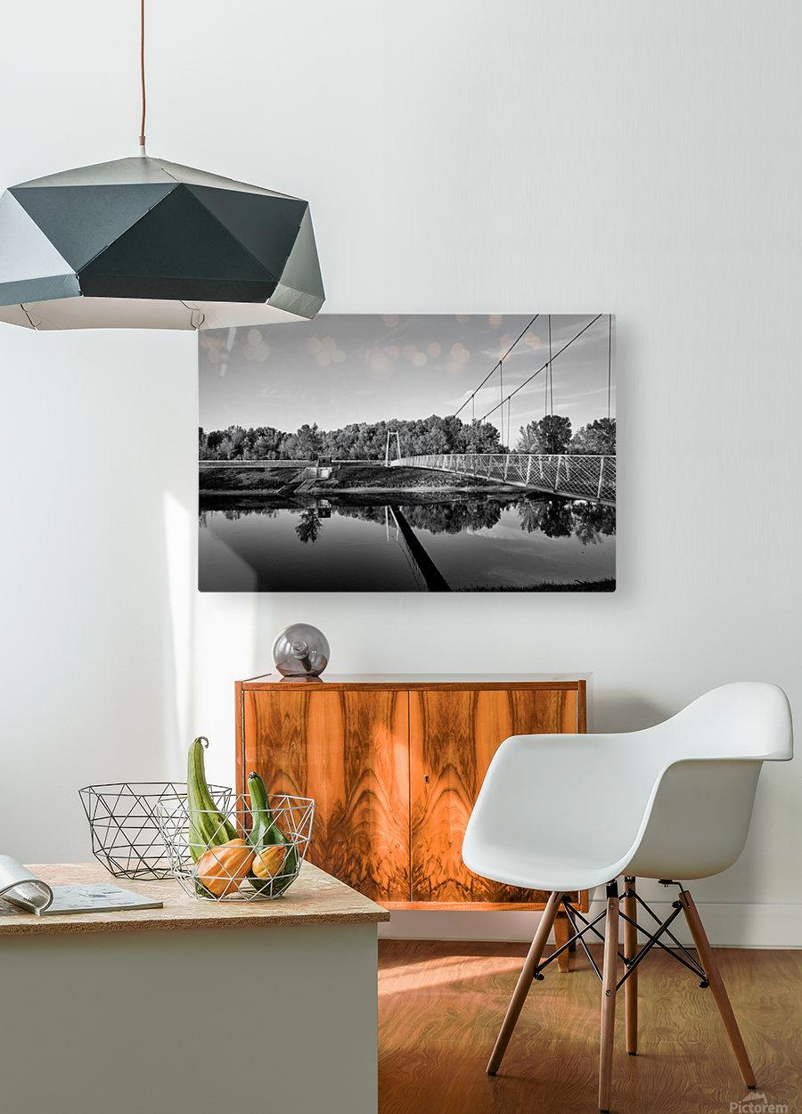 White Bridge  HD Metal print with Floating Frame on Back