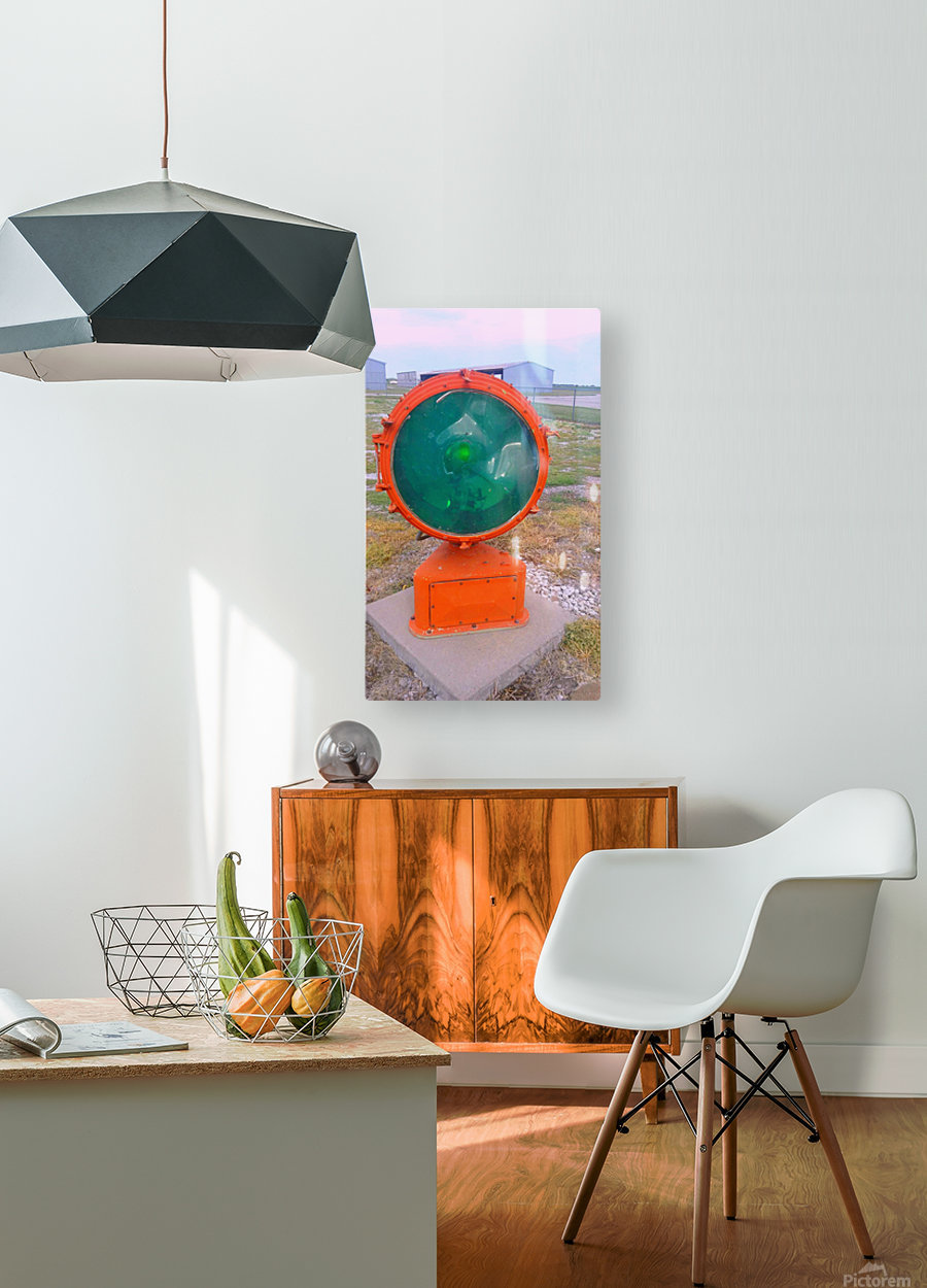 Airport Light  HD Metal print with Floating Frame on Back