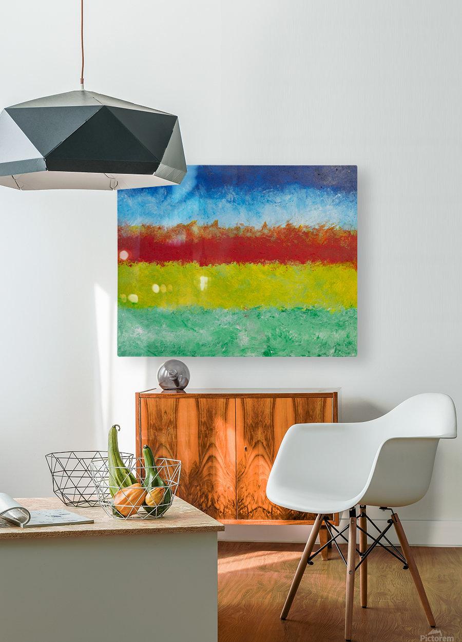 Horizon  HD Metal print with Floating Frame on Back
