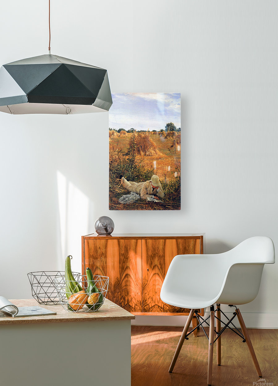 94 degrees in the shade by Alma-Tadema  HD Metal print with Floating Frame on Back