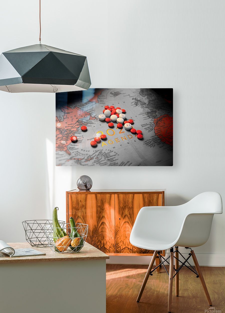 2020  HD Metal print with Floating Frame on Back