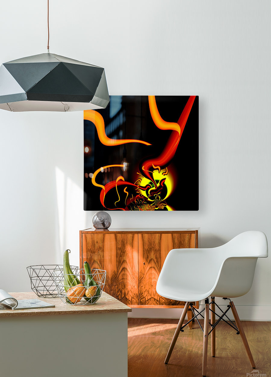 Lightening_Nude  HD Metal print with Floating Frame on Back