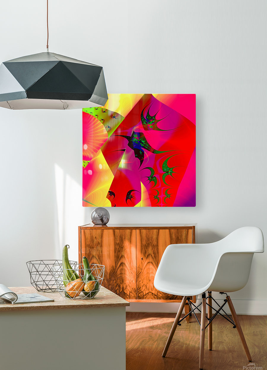 Sun_Flies  HD Metal print with Floating Frame on Back